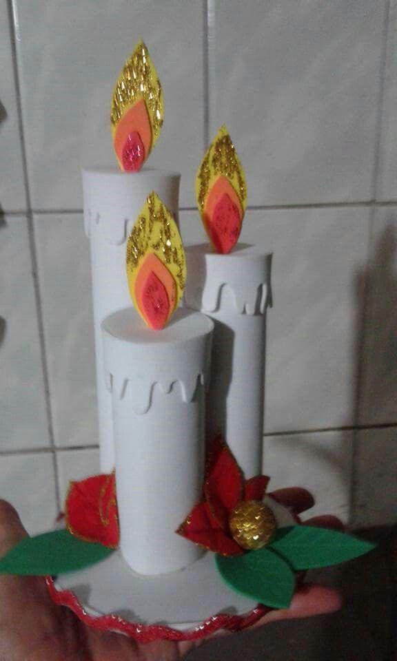 petites bougies en mousse de Noël