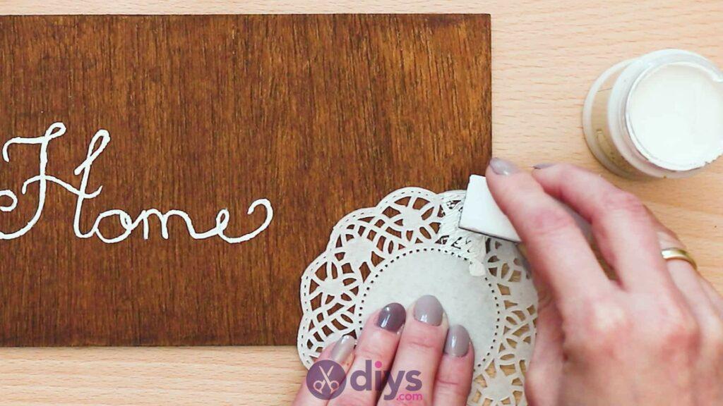 Panneau de porte en bois bricolage étape 4a