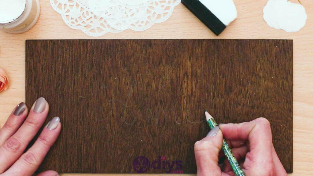 Panneau de porte en bois bricolage étape 2a