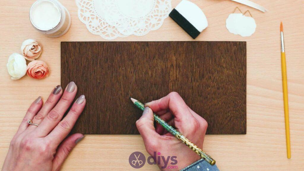 Panneau de porte en bois bricolage étape 2