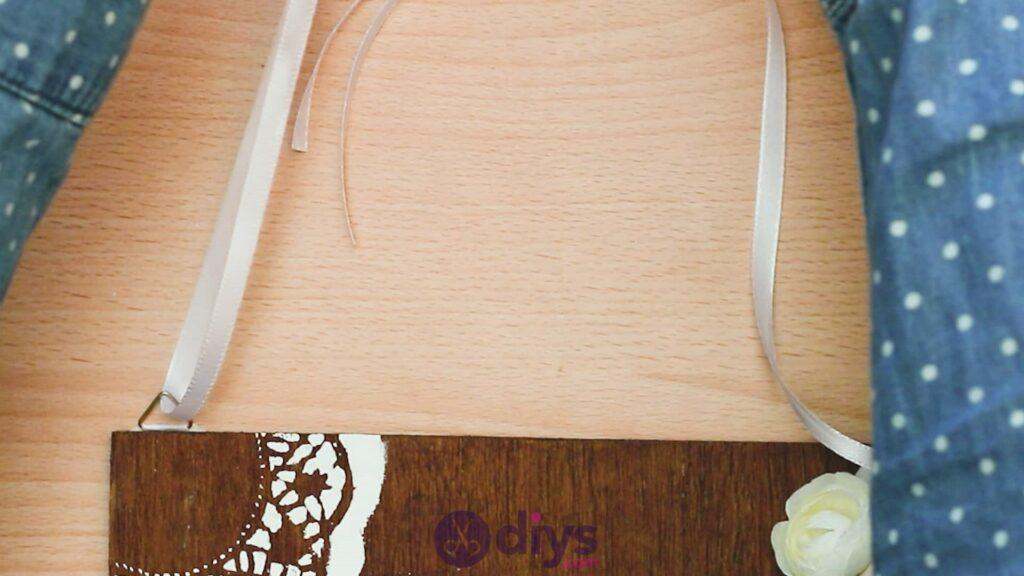 Panneau de porte en bois bricolage étape 9d