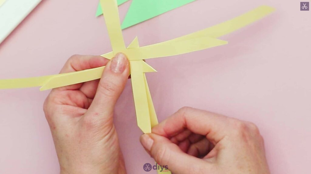 Diy origami flower art step 6