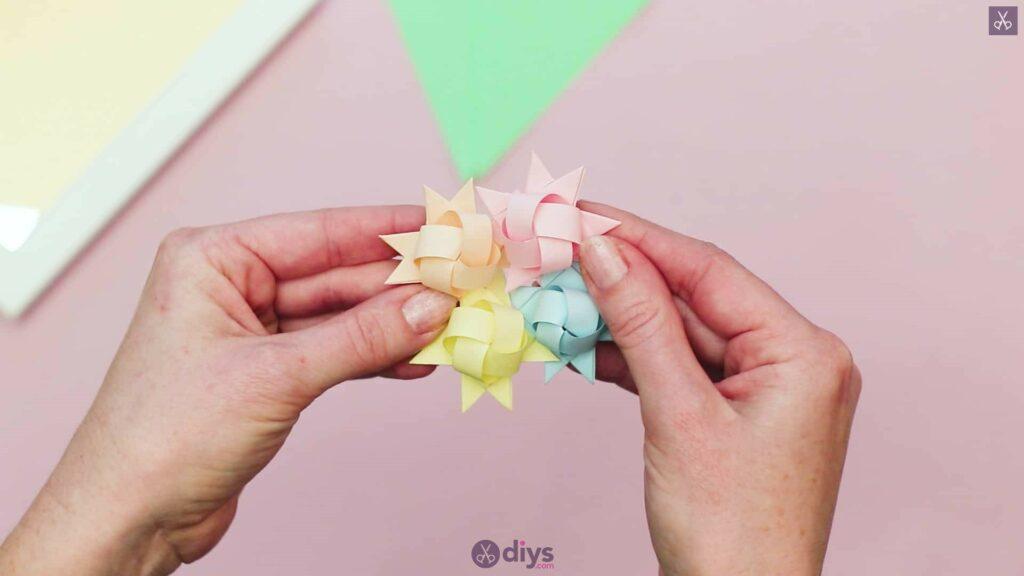Diy origami flower art step 9d