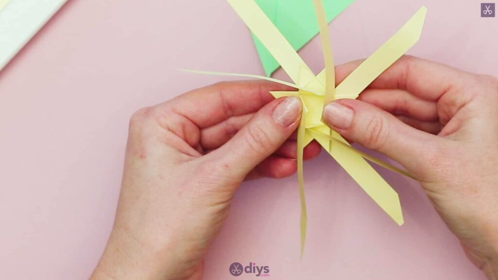 Diy origami flower art step 7