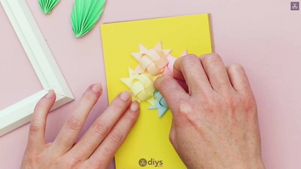 Diy origami flower art step 12d