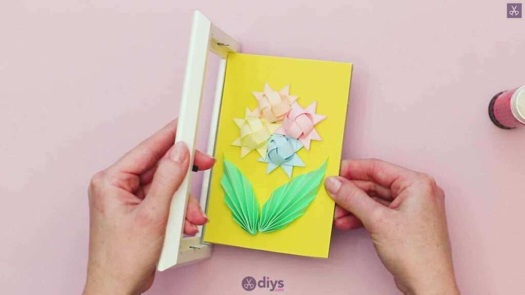 Diy origami flower art step 12aa
