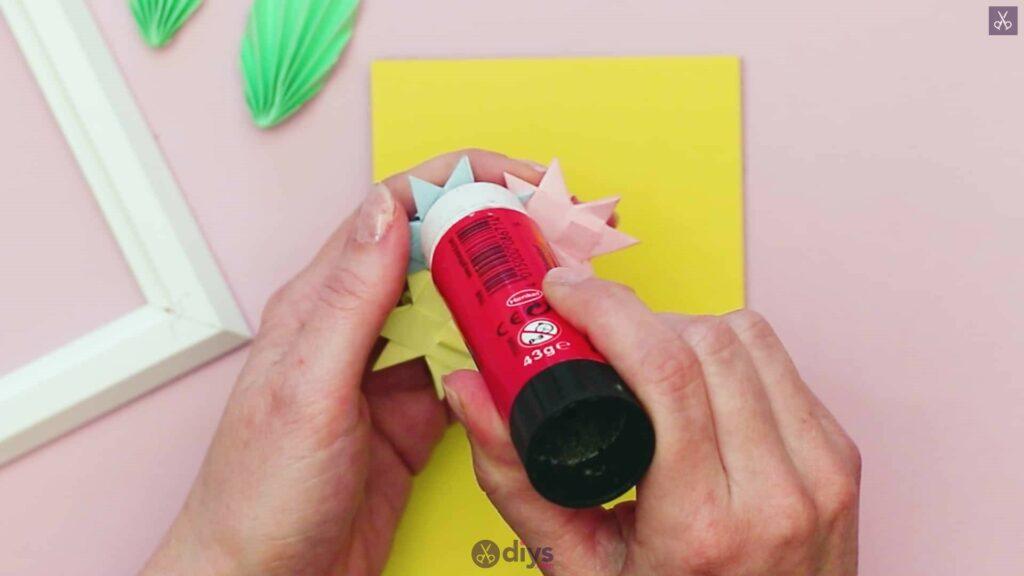 Diy origami flower art step 12c