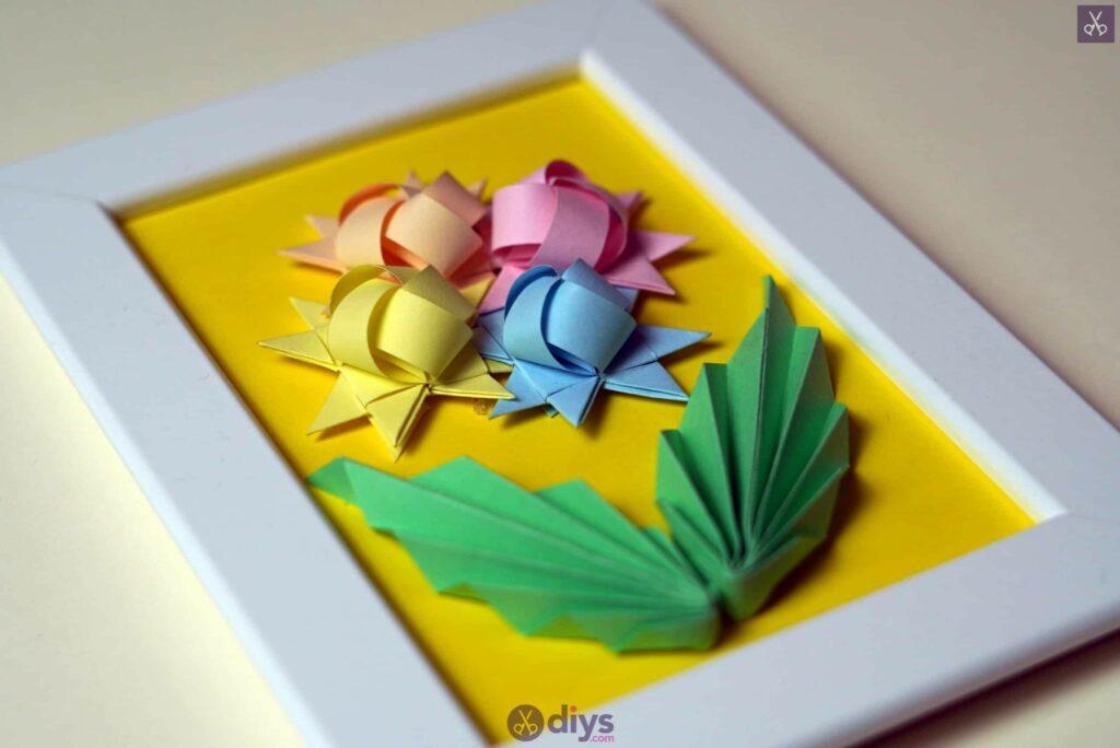 Diy origami flower art step 12ro