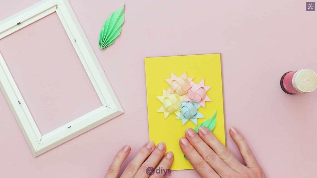 Diy origami flower art step 12p