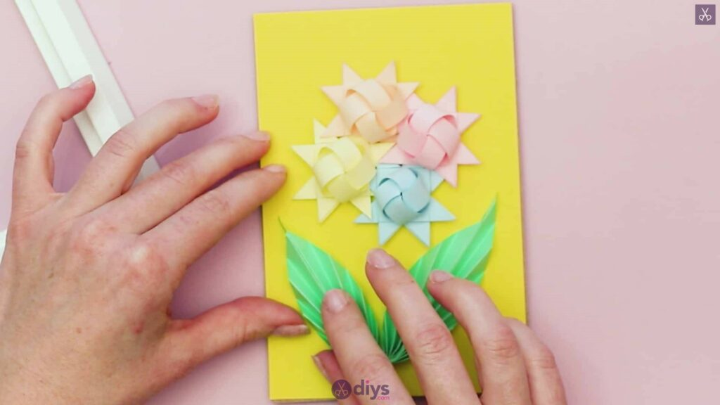 Diy origami flower art step 12h