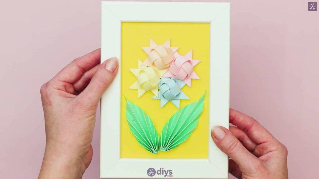 Diy origami flower art step 12av