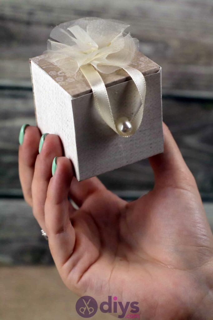 Diy mini wedding gift box project