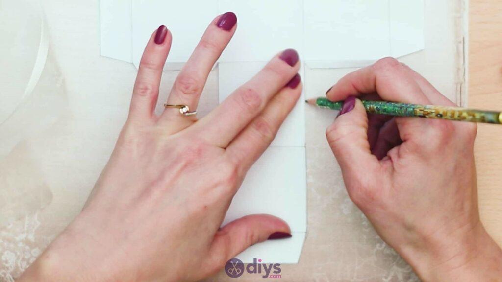 Diy mini wedding gift box step 2a