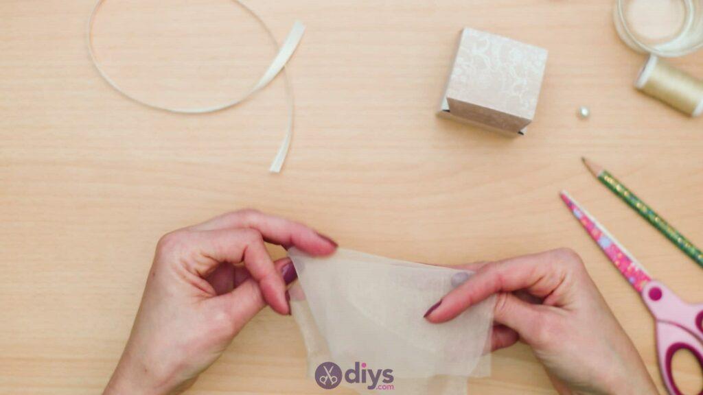 Diy mini wedding gift box step 7