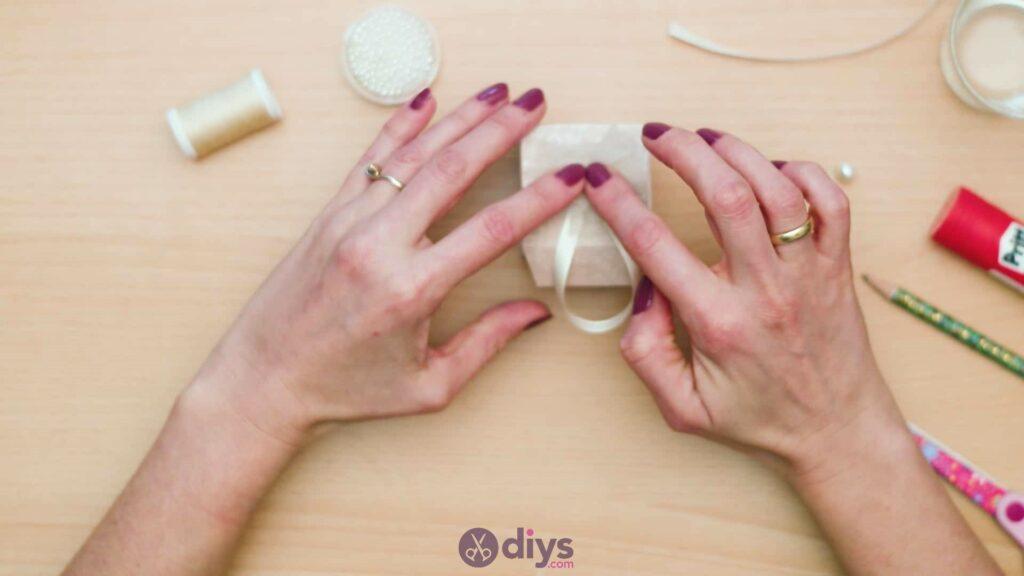 Diy mini wedding gift box step 1