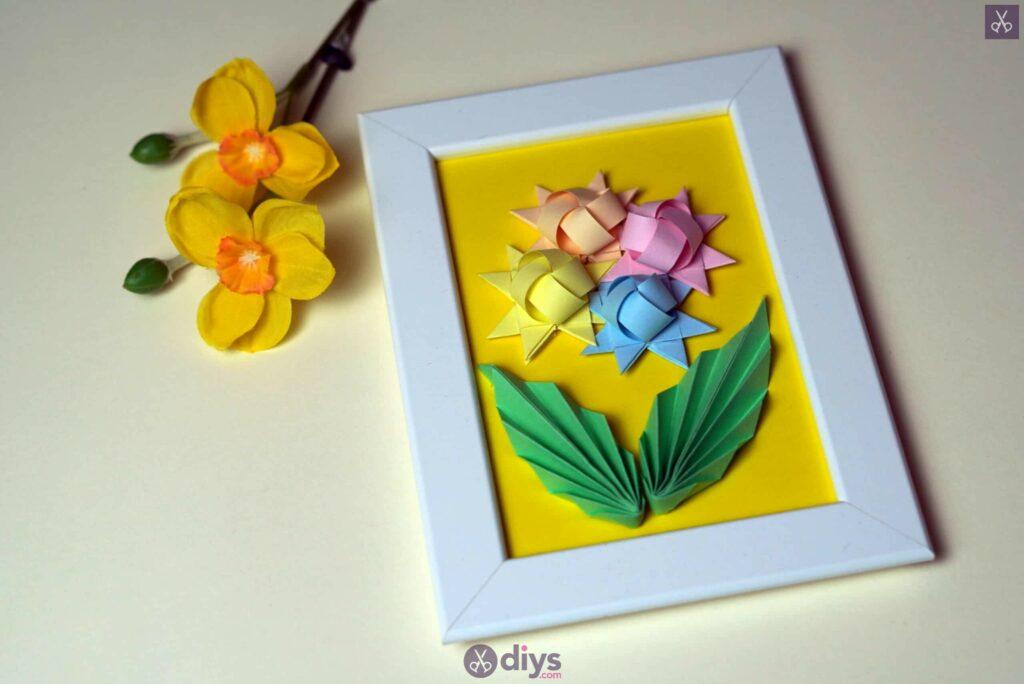 Diy origami flower art