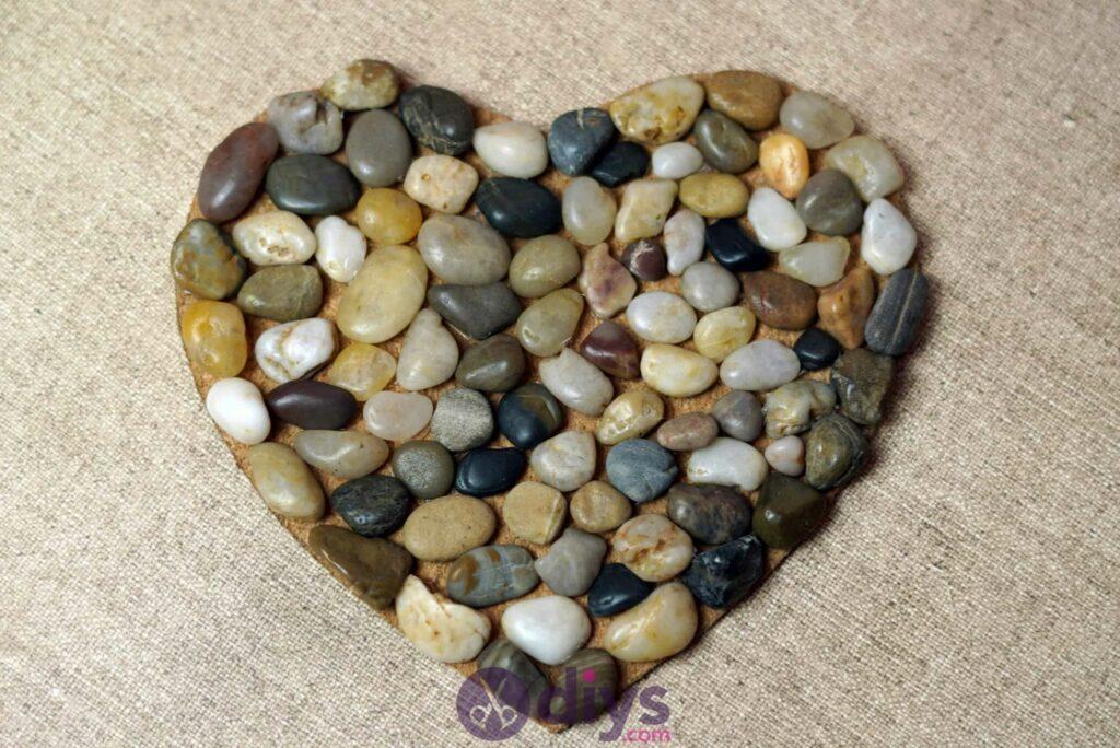 Sous-plaque de galets en forme de coeur projecy