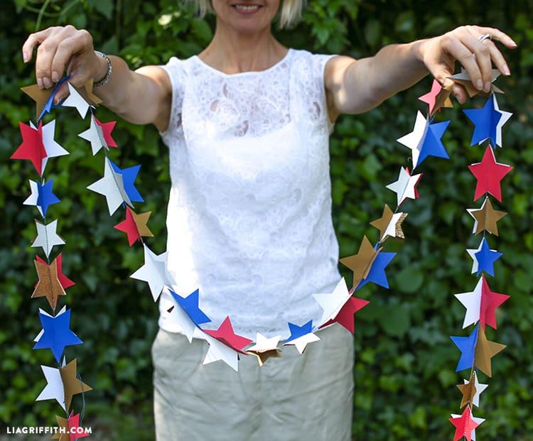 Guirlande d'étoiles en papier à couture rapide