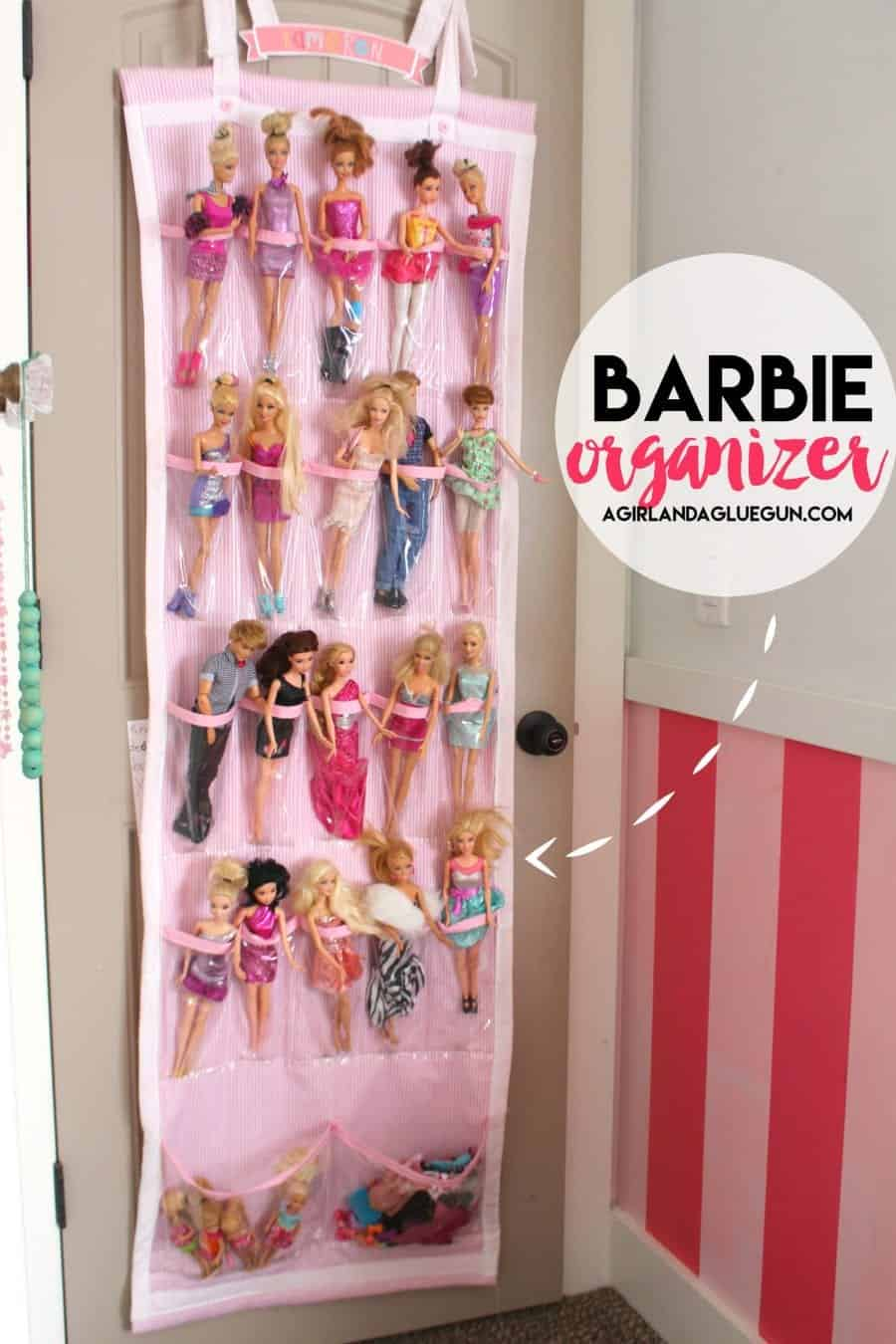 Pocketed barbie door organizer