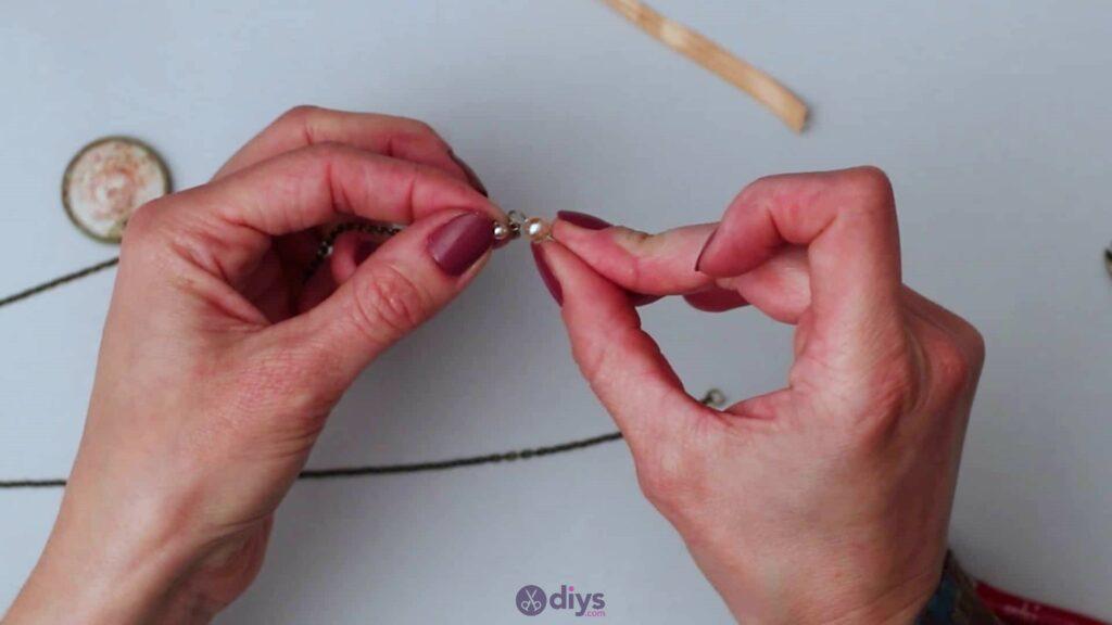 Collier lentille en verre étape 5g