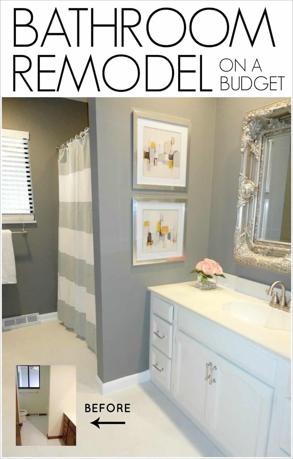 Rénovation de salle de bain simple argentée