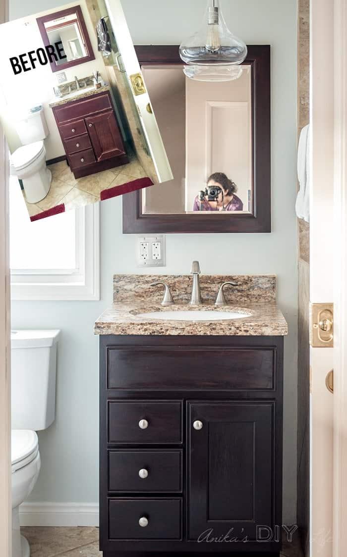 Processus de rénovation de petite salle de bain pas cher