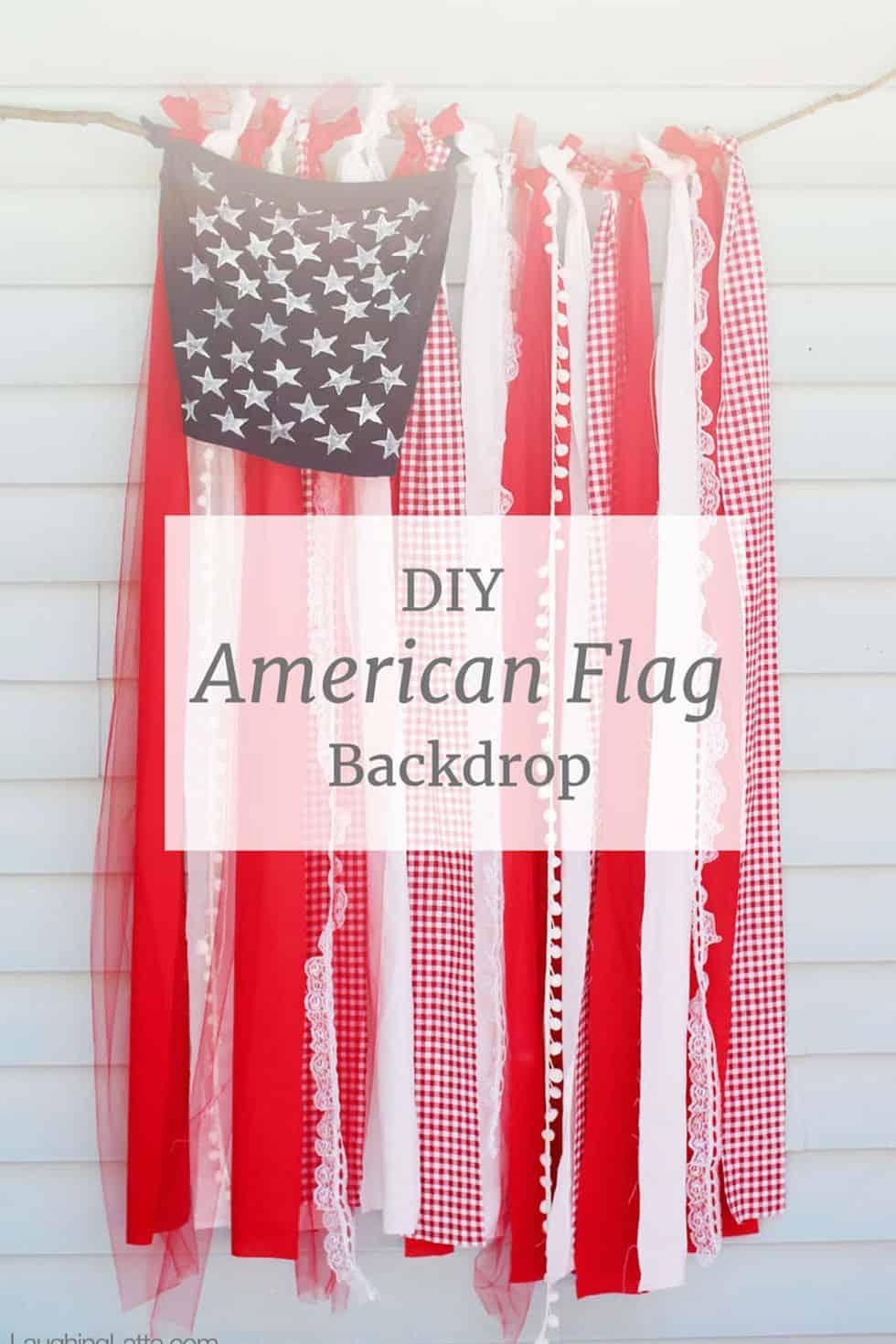 Décor de ruban de drapeau américain