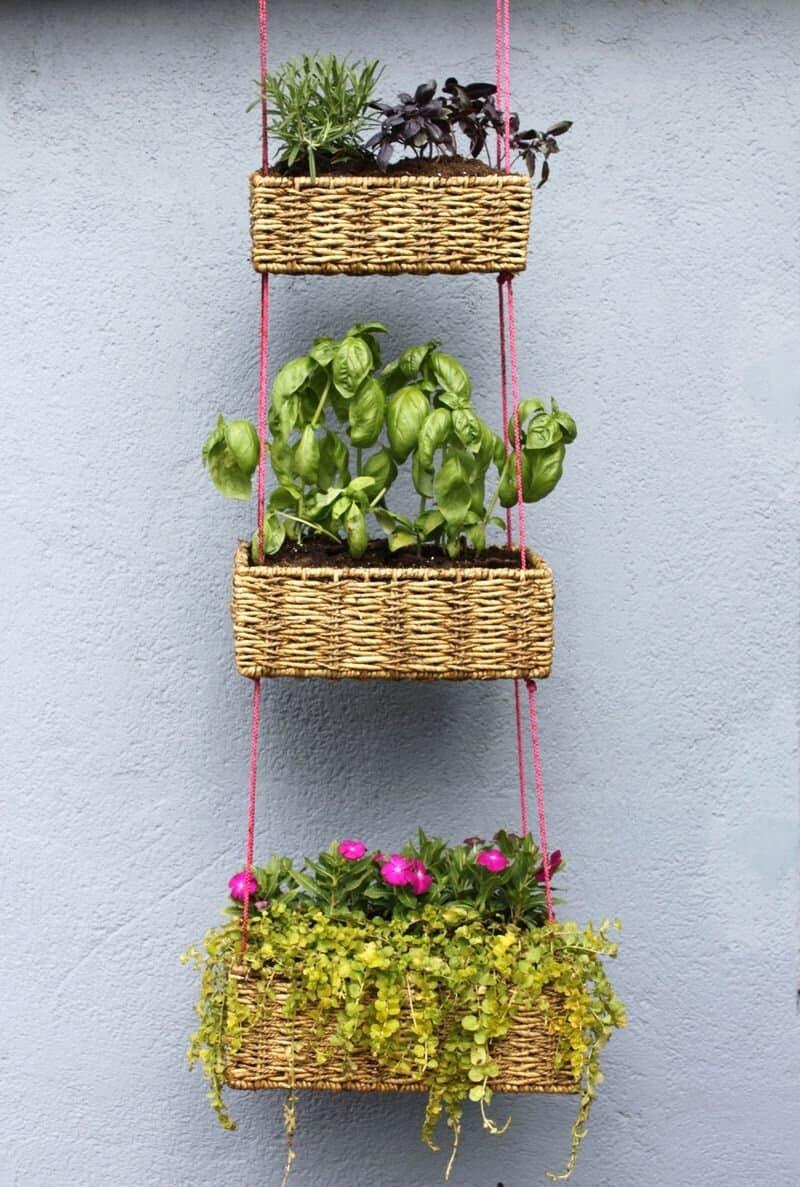 Paniers de jardin suspendus verticaux