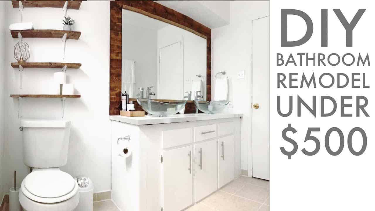 Rénovation de salle de bain simple à moins de 500 $