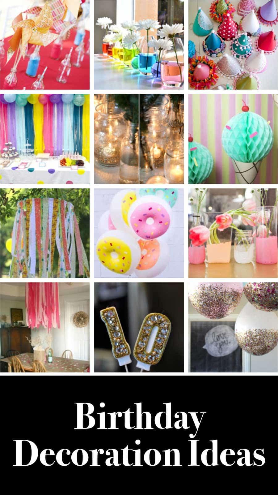 Idées de décoration d'anniversaire bricolage