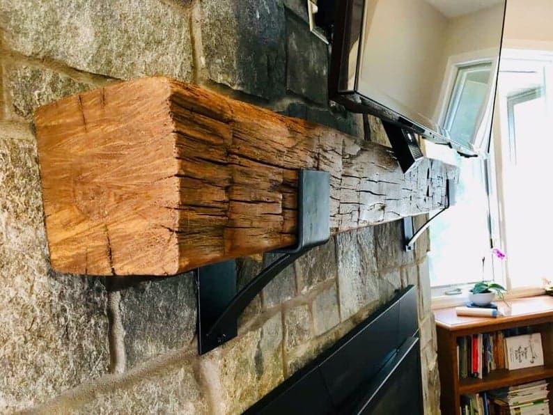 Supports de manteau de cheminée