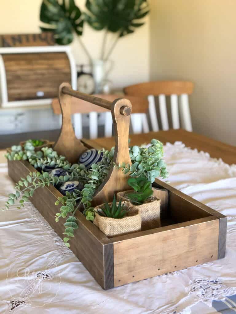Jardinière à plateau d'outils à l'ancienne