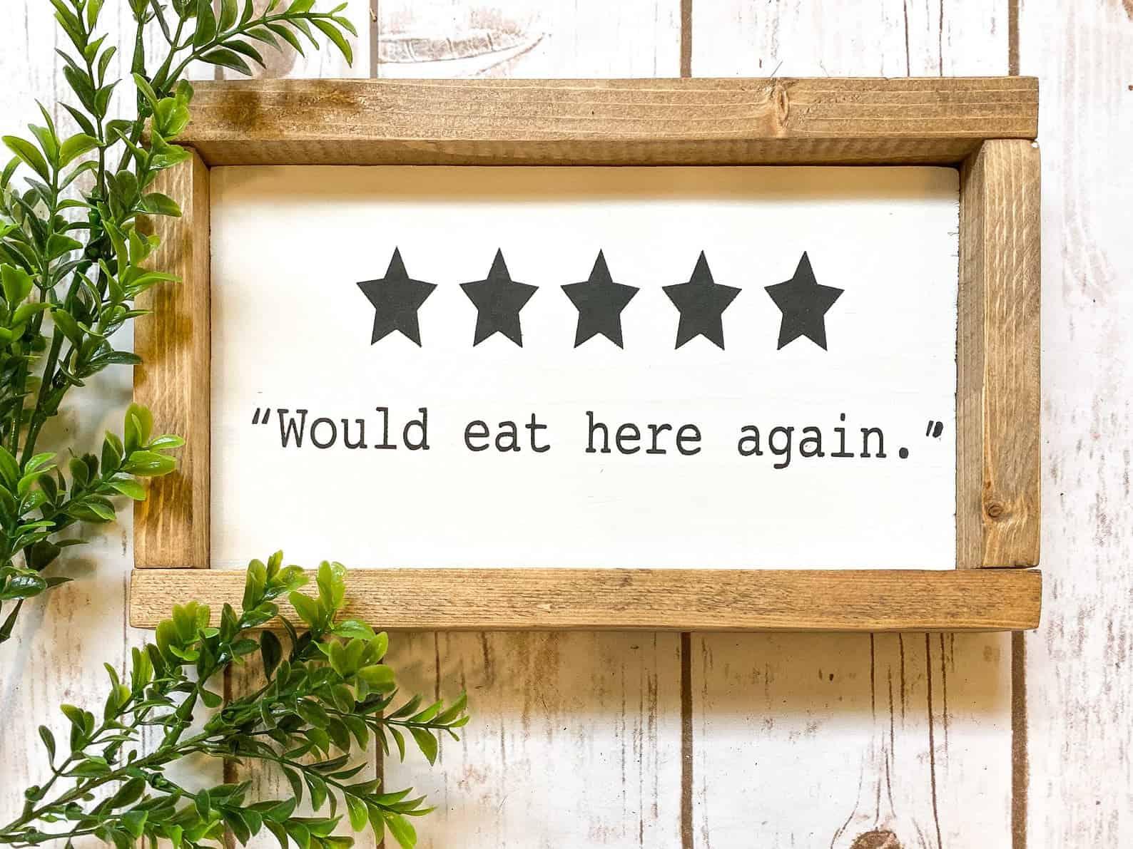 Je mangerais ici encore un décor