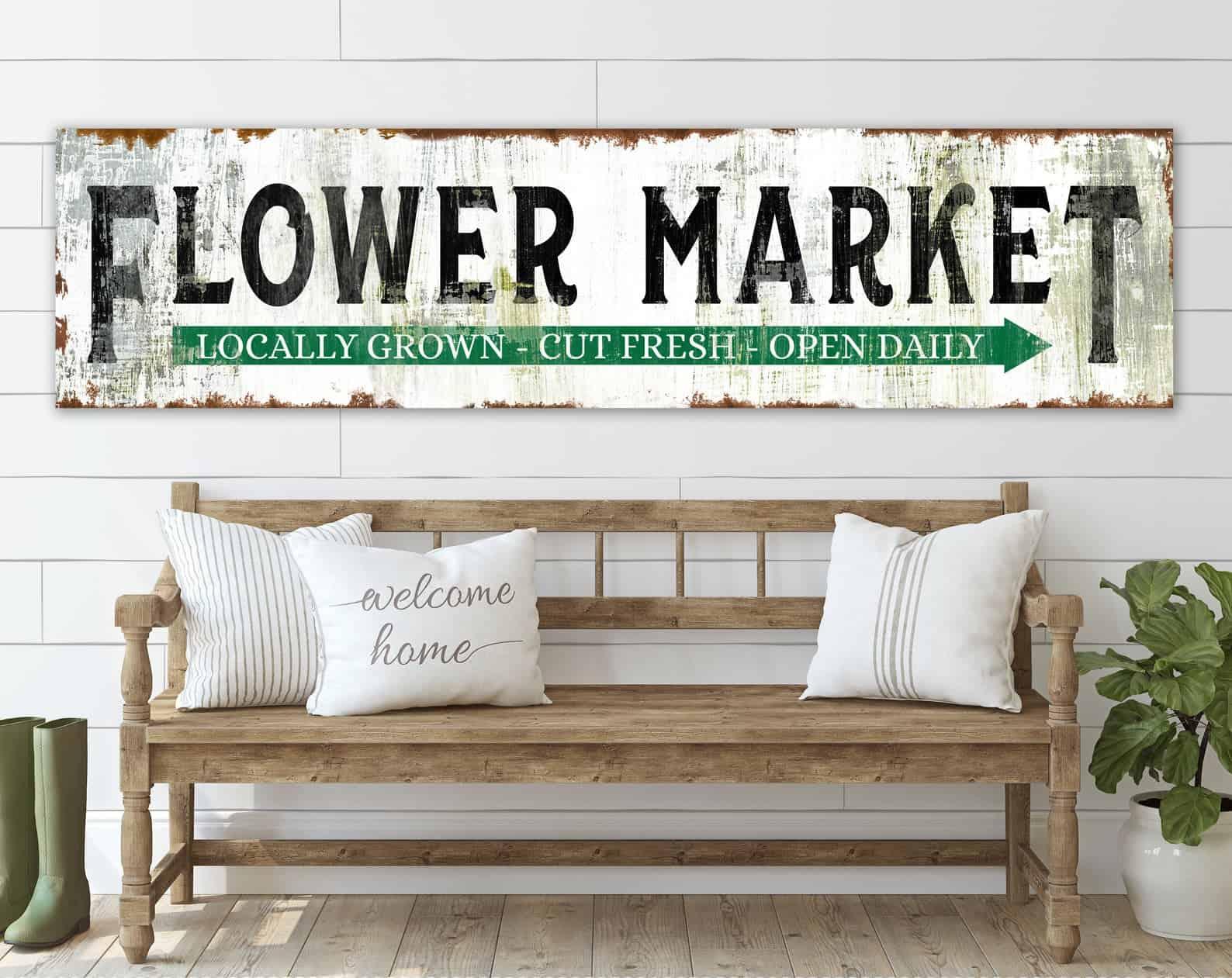 Signe du marché aux fleurs