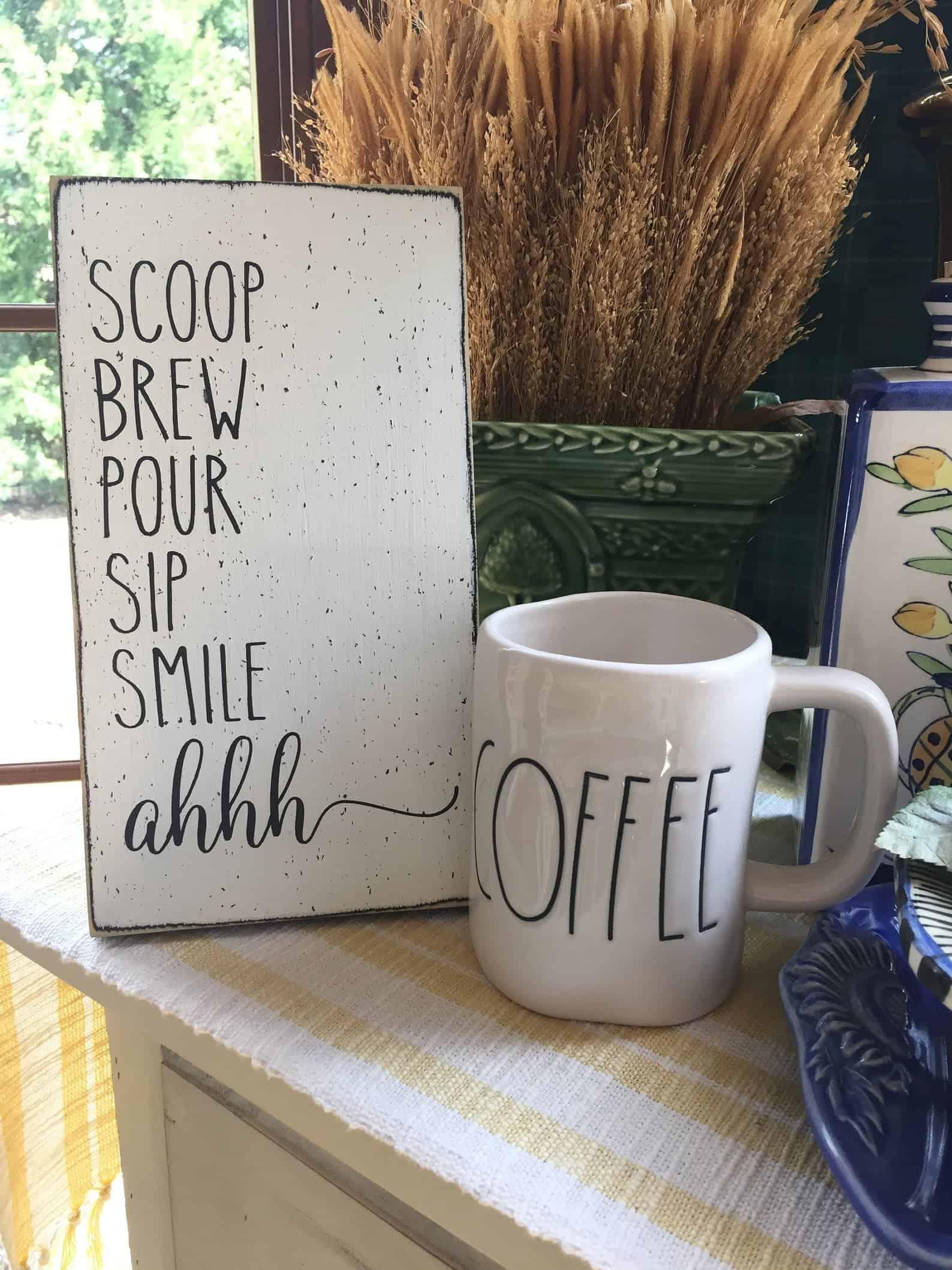 Signe de coin café