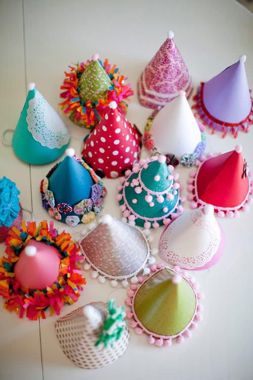 Chapeaux de fête ornés