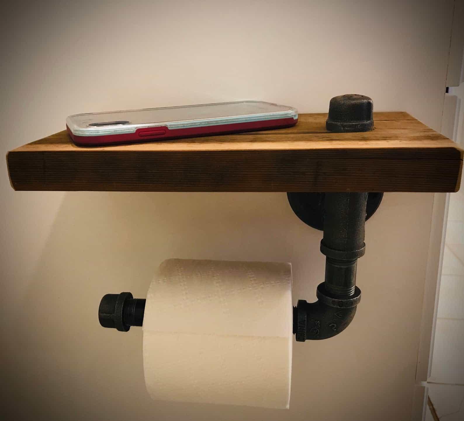 Porte-papier toilette rustique