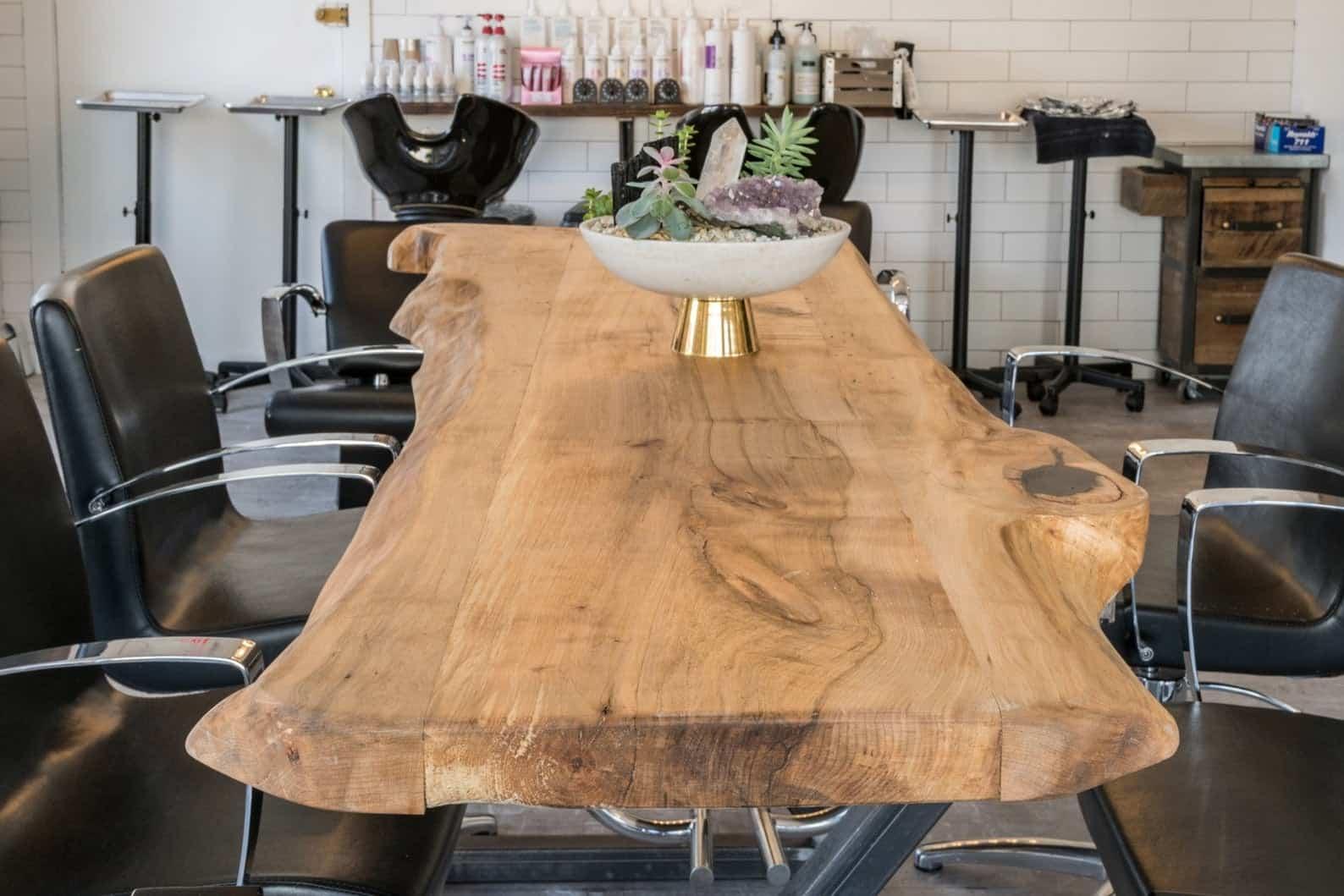 Table en bois Live Edge