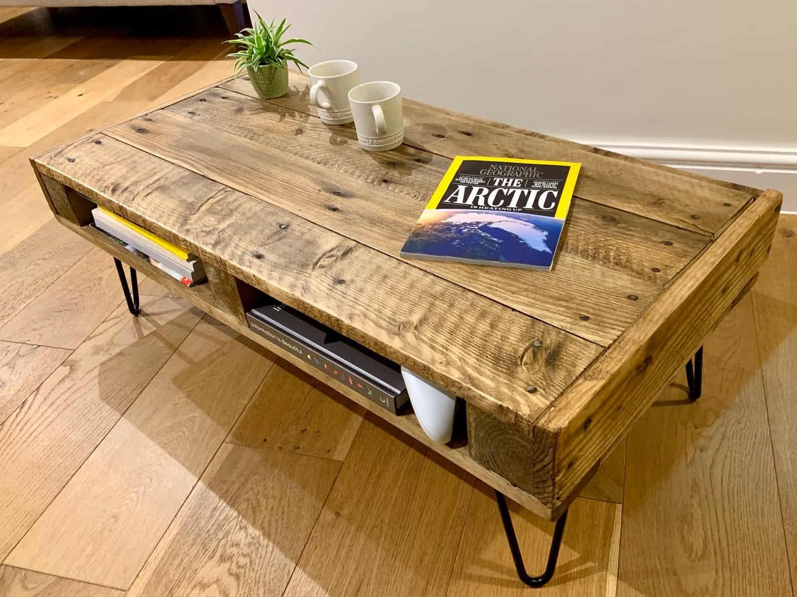 Table basse rustique faite main