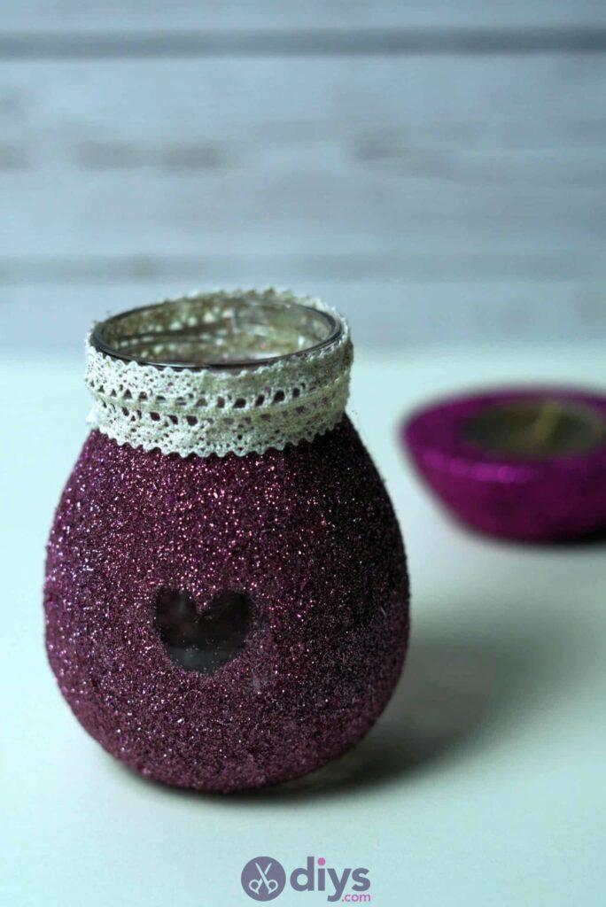 Vase à paillettes de fleurs bricolage à partir de bocaux en verre bricolage