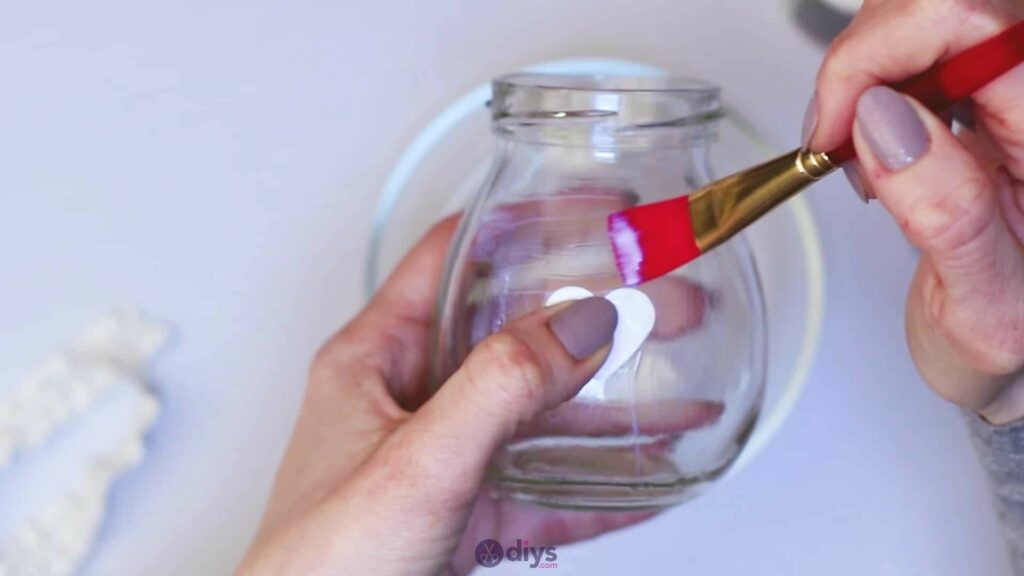 Vase à paillettes de fleurs bricolage à partir de bocaux en verre Étape 4b