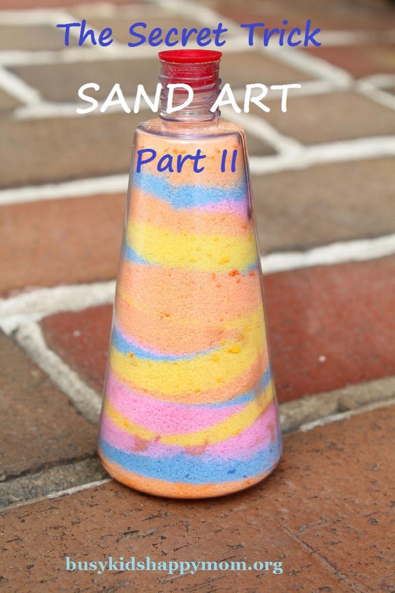 Art de sable arc-en-ciel