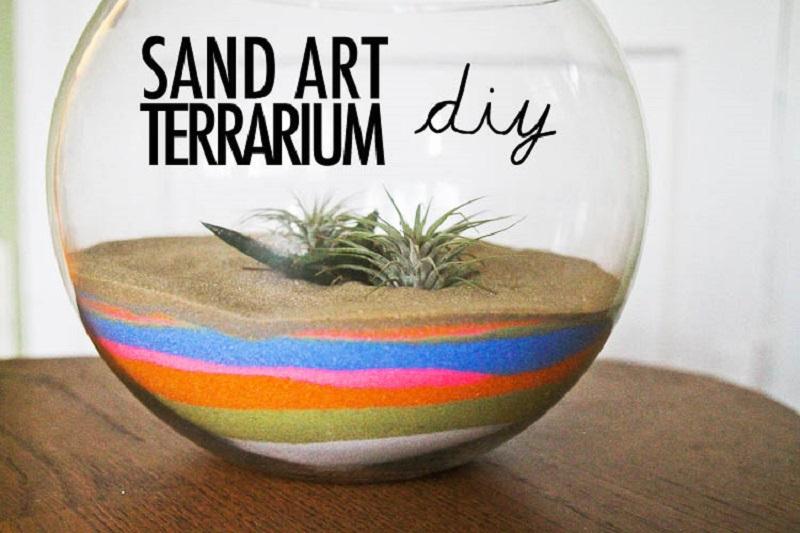 Terrarium d'art de sable coloré