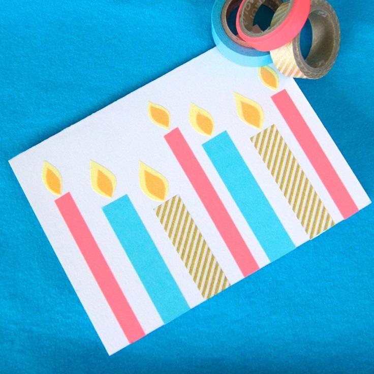 Carte de bougie Washi Tape