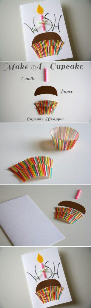 Carte d'emballage de cupcake