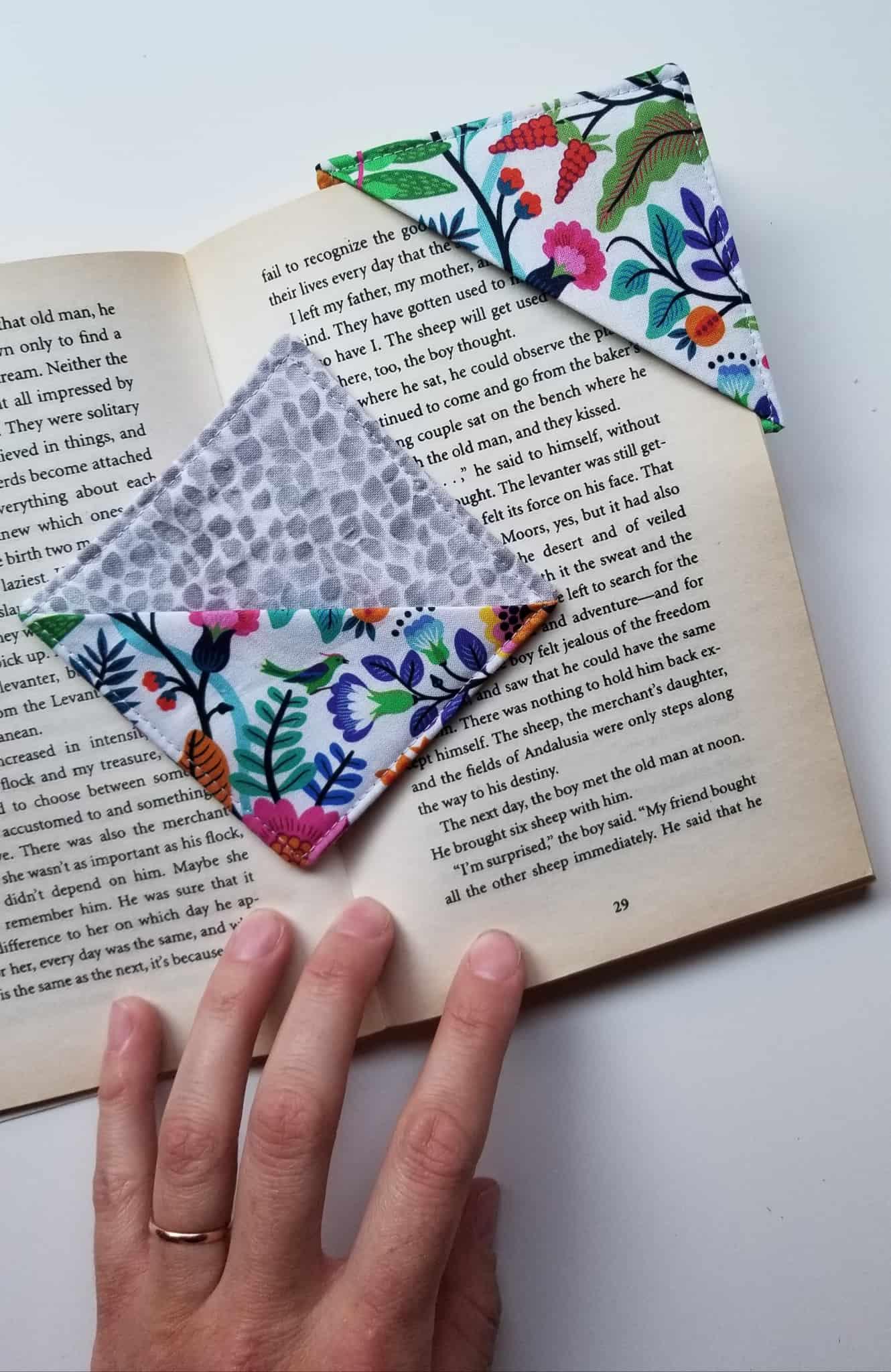 Marque-page en tissu bricolage