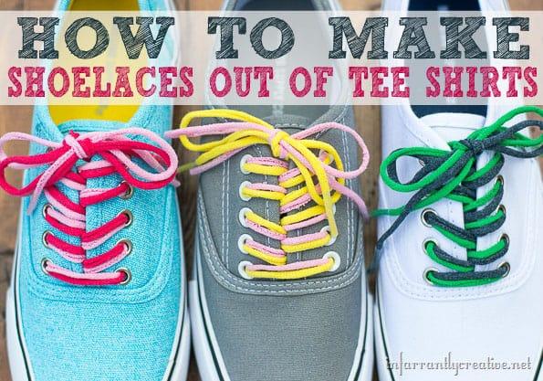 Comment faire des lacets avec des tee-shirts chez Tidymom Net