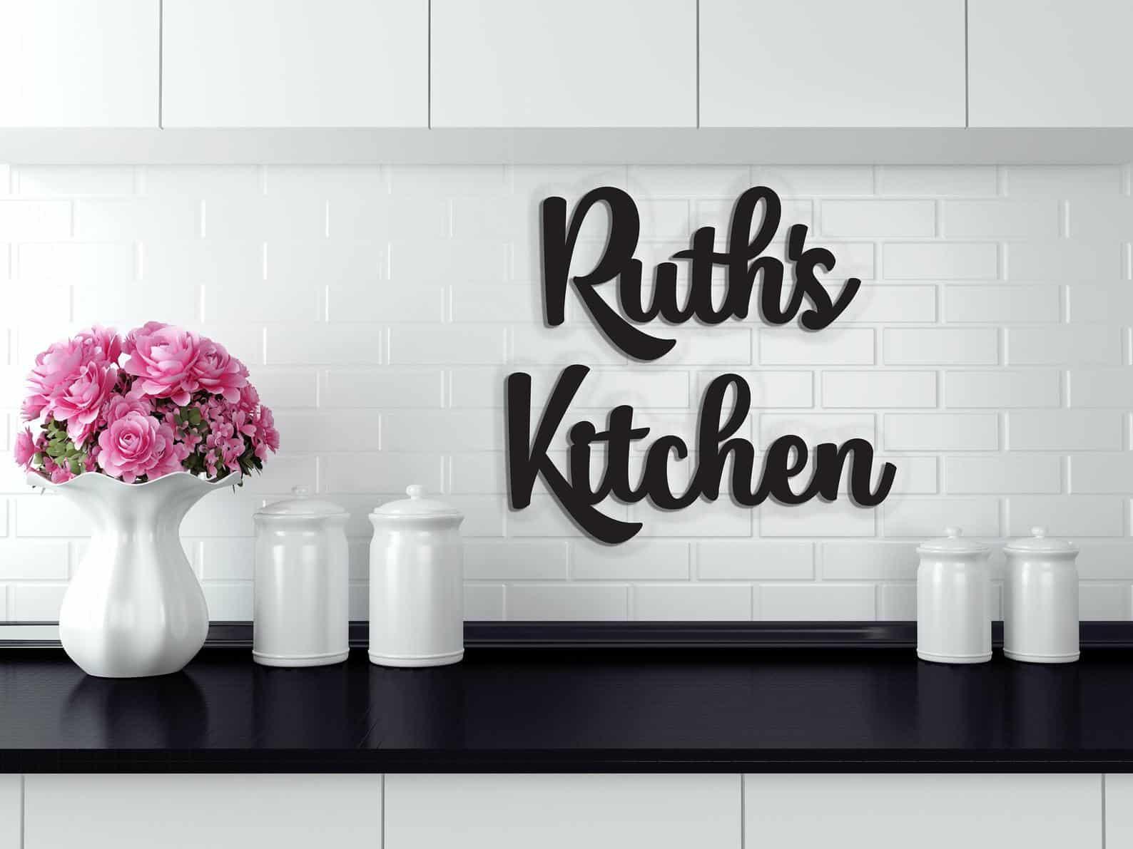 Signe de cuisine personnalisé