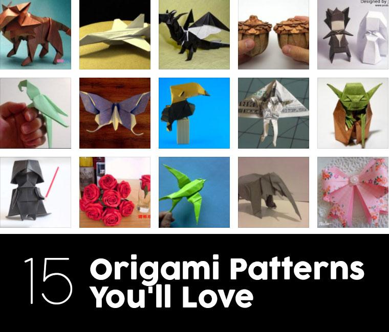 Grands motifs d'origami