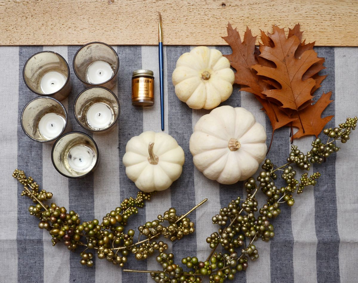 Fournitures de centre de table de Thanksgiving bricolage